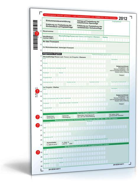 einkommensteuererklaerung  mantelbogen formular zum