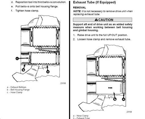mercruiser exhaust bellows fun time page  iboats