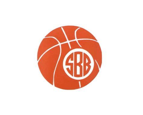 basketball monogram vinyl decal   initialed life monogram vinyl decals gifts ideas