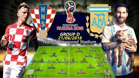Argentina Croatia Lineups Score Predictions