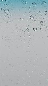 iOS 5 water drops raindrop default hd iPhone 5 wallpaper ...