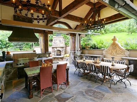 Best French Country Outdoor Kitchen  Home Design #1062