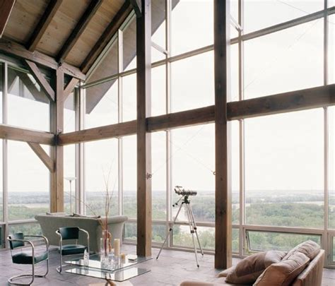 glass curtain wall timber framing  recycledsalvaged