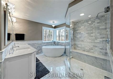 bianco carrara marble bathroom design united states