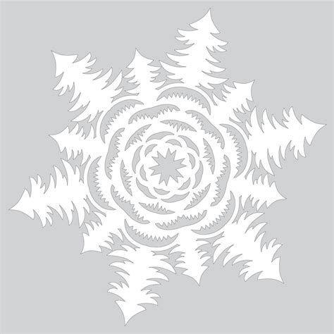 paper snowflake  christmas tree forest