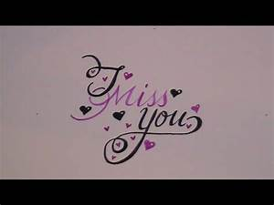 Cursive Lettering Cursive Fancy Letters How To Write I Miss You For
