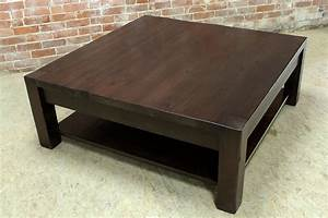 Square parsons coffee table in espresso - ECustomFinishes