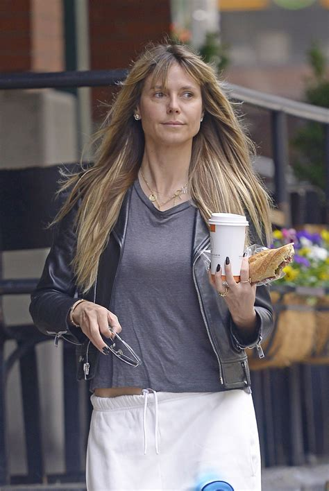 Heidi Klum With Make Out For Breakfast New York