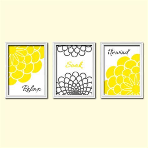 yellow gray bathroom wall art canvas or prints by trmdesign