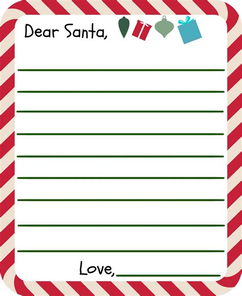 dear santa letter template free printable letter to santa templates and how to get a reply
