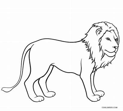 Lion Coloring Pages Printable African Colouring