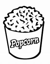 Coloring Popcorn Pages Printable Corn Pop Template Sheets Clipart Bag Becuo Cliparts Sheet Clip Bucket Box Library Kernel Getcoloringpages sketch template