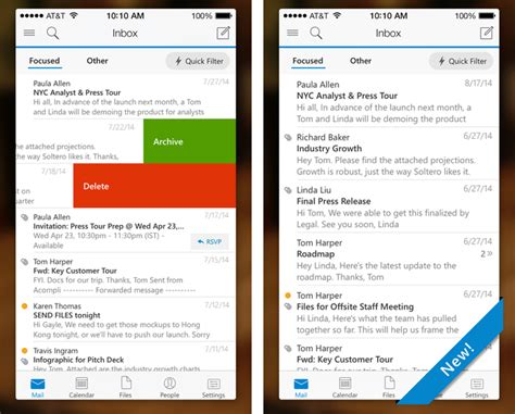 outlook app for iphone microsoft releases outlook app for ios