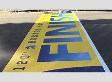 2016 Boston Marathon finish line was laid today