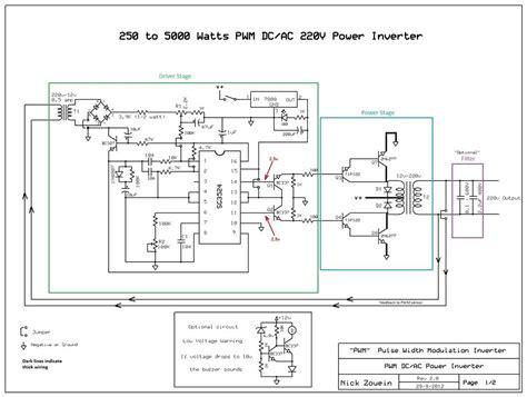 Circuit Diagram Watt Inverter