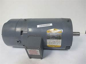 Baldor Vbm3154t 1 5hp Electric Brake Motor 208 480v 3ph 1725 Rpm 7  8