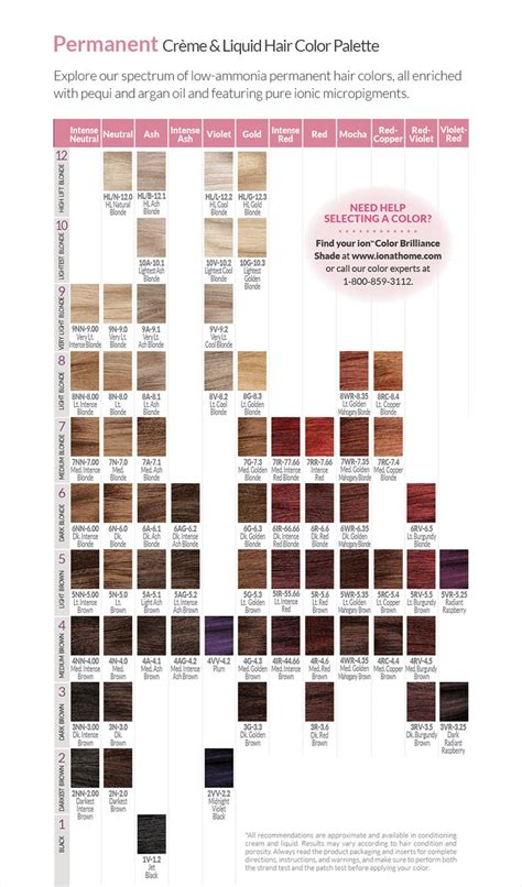 ion color best 25 ion hair color chart ideas on ion