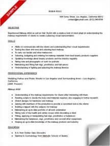 resume for a makeup artist makeup artist resume objective exles www