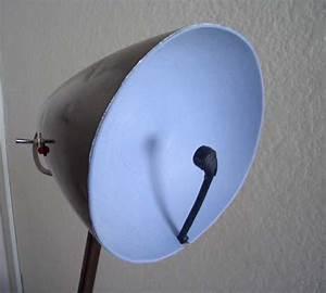 Diy  Lamp To Parabolic Microphone