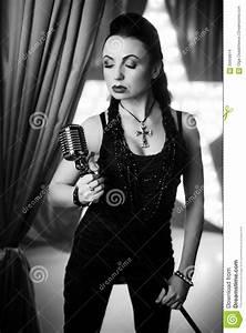 Woman rock star stock photo. Image of recital, club ...
