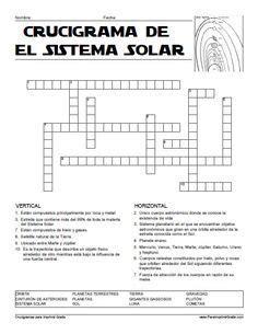 Crucigrama del Sistema Solar para Imprimir Gratis