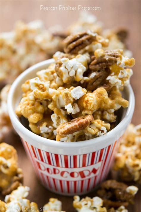 pecan praline popcorn  party popcorn crazy  crust