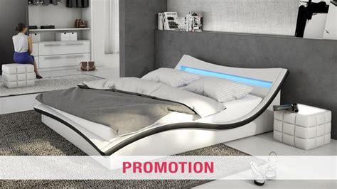 matelas de canapé lit similicuir avec éclairage led et sommier beonis