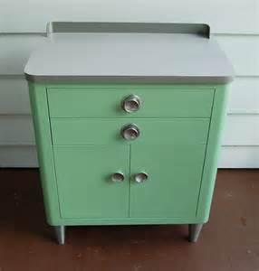 Mid Century Cabinet Pulls by Vintage Hamilton Medical Cabinet
