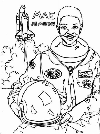 Coloring History Pages Month Mae Jemison Sheets