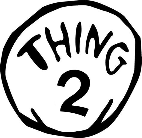 Thing One T Shirt Template by Thing 1 Printable Image Clipart Best