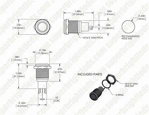 Led Indicator Push Button Switch