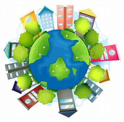 Earth Resources Natural Buildings Clipart Cartoon Illustration