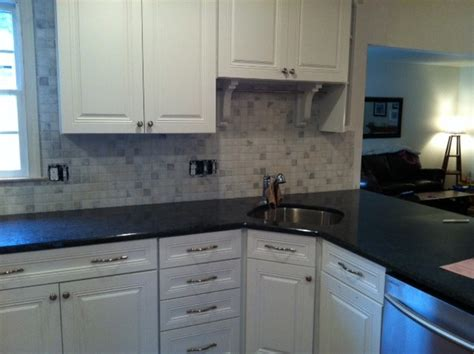 black ash granite tops traditional kitchen