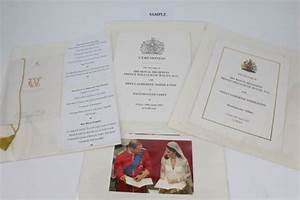 Prince William and Kate Middleton's wedding menu and rare ...