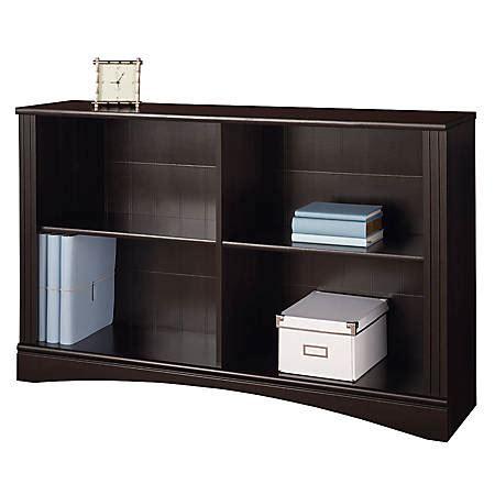Sofa Bookcase by Realspace Dawson 2 Shelf Sofa Bookcase Cinnamon Cherry By