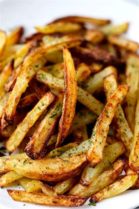 fries fryer french air recipe recipes food healthy pickledplum potatoes airfryer pepper salt fry homemade cooking cook potato looking gold