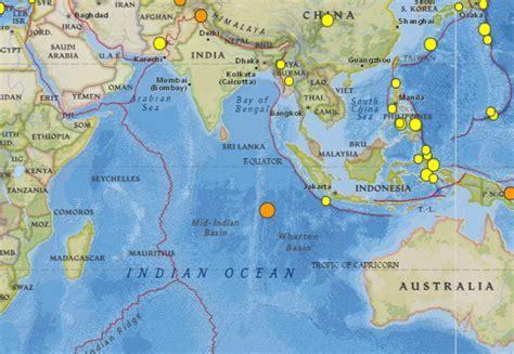 earthquake struck   coast  cocos islands