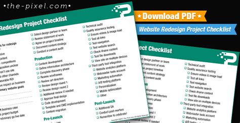 website redesign project checklist   file