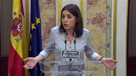 Irene Montero (podemos) Valora Los Presupuestos De Montoro