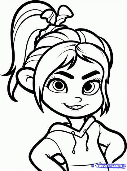 Vanellope Ralph Wreck Draw Step Disney Characters