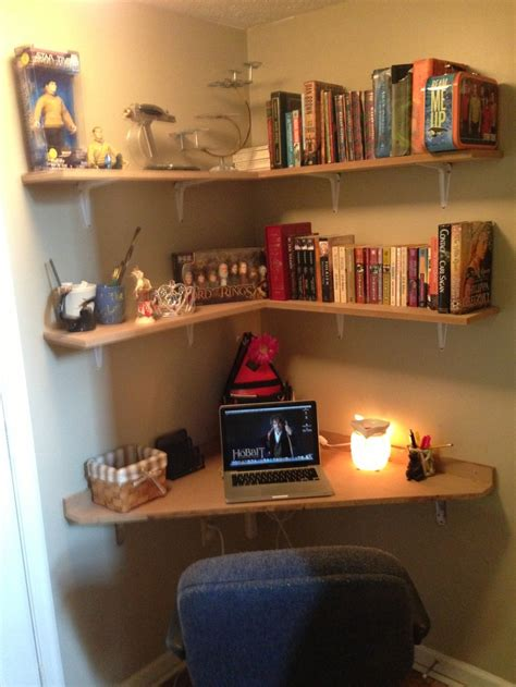 desk and bed in small room built a corner desk in 6x6 landing love it connor