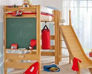Hochbett Holz Kinder : hochbett mit rutsche spa im kinderzimmer ~ Michelbontemps.com Haus und Dekorationen
