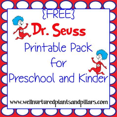 preschool dr seuss lesson plans free dr seuss themed printable pack for preschool 809