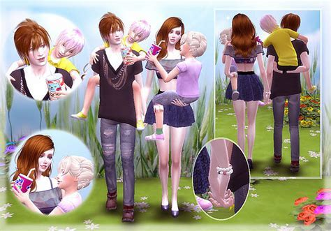 Family Pose at A luckyday » Sims 4 Updates