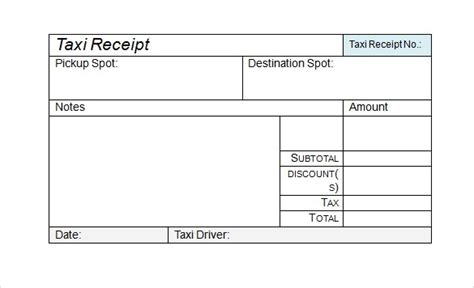 sample receipts sample templates
