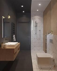 Salle De Bain Grise Et Bois : 1001 id es salle de bain beige et gris pierre ~ Melissatoandfro.com Idées de Décoration