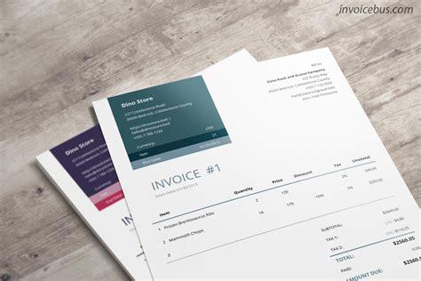 professional invoice template loretta