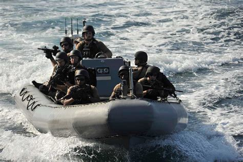 Zodiac Boat Training by Rigid Hull Inflatable Boat Military