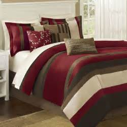 boulder stripe 7 pc comforter bed set