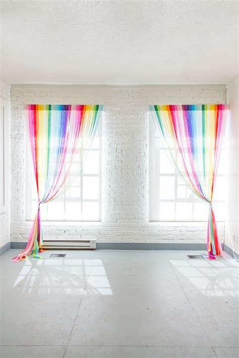 diy rainbow streamer curtains  house  lars built